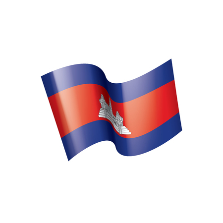 Cambodia national flag, vector illustration on a white background