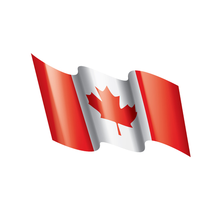 Canada national flag, vector illustration on a white background Vettoriali
