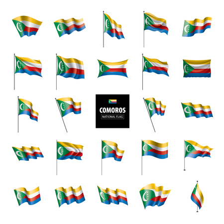 Comoros national flag, vector illustration on a white background