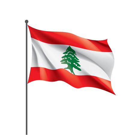 Lebanese flag, vector illustration on a white background Illustration