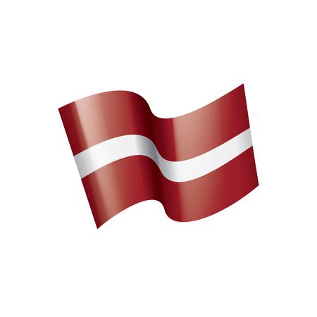 Latvia national flag, vector illustration on a white background