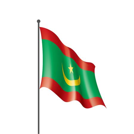 Mauritania national flag, vector illustration on a white background