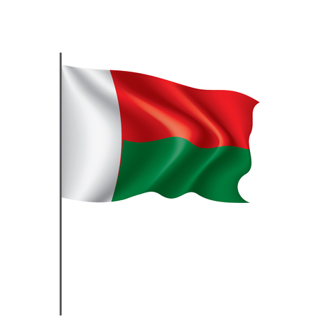 Madagascar national flag, vector illustration on a white background