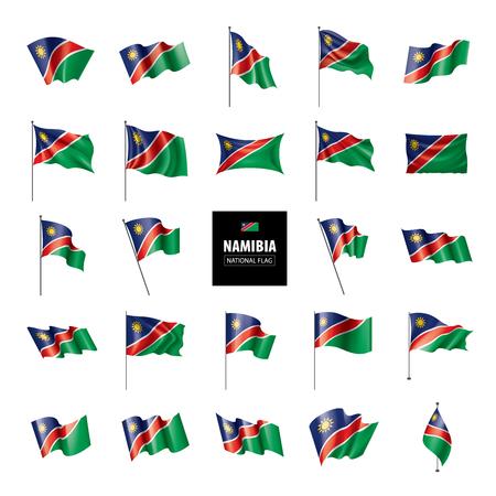 Namibia national flag, vector illustration on a white background Banque d'images - 112115763