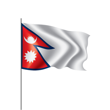 Nepal national flag, vector illustration on a white background