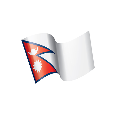 Nepal national flag, vector illustration on a white background 版權商用圖片 - 112115785