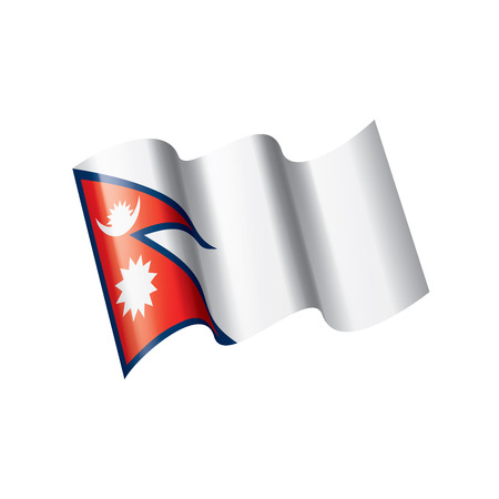 Nepal national flag, vector illustration on a white background