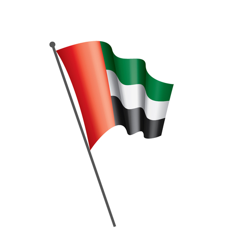 United Arab Emirates national flag, vector illustration on a white background