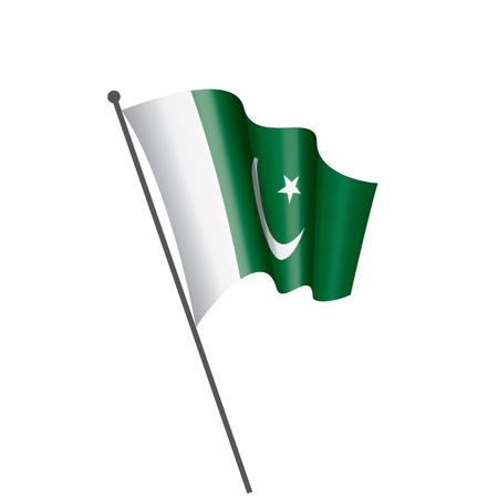 Pakistan national flag, vector illustration on a white background Ilustrace