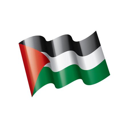 Palestine national flag, vector illustration on a white background