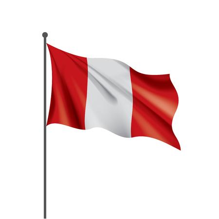 Peru national flag, vector illustration on a white background Illustration