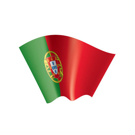 Portugal national flag, vector illustration on a white background