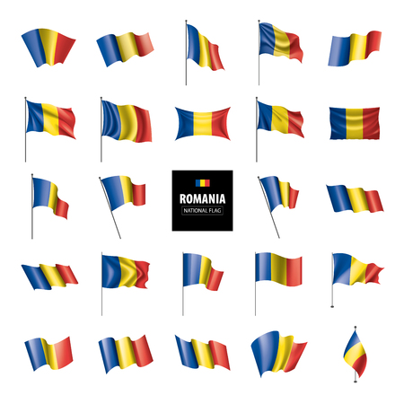Romania national flag, vector illustration on a white background
