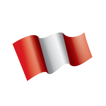 Peru national flag, vector illustration on a white background