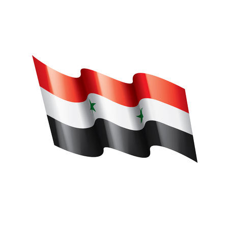 Syria national flag, vector illustration on a white background
