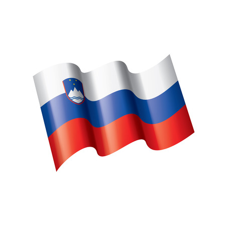 Slovenia national flag, vector illustration on a white background