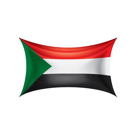 Sudan national flag, vector illustration on a white background