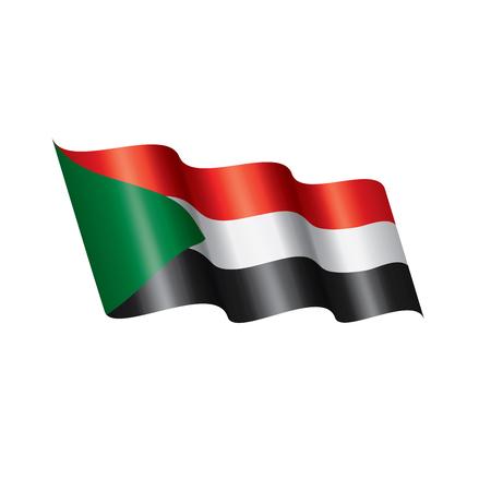 Sudan national flag, vector illustration on a white background Vetores