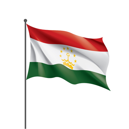 Tajikistan national flag, vector illustration on a white background