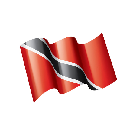 trinidad and tobago national flag, vector illustration on a white background