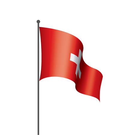 Drapeau national suisse, illustration vectorielle sur fond blanc Vecteurs