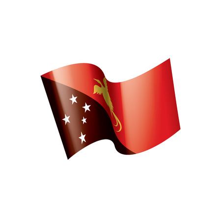 Papua New Guinea national flag, vector illustration on a white background Banque d'images - 112080511