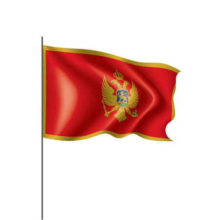 montenegro national flag, vector illustration on a white background