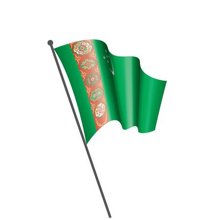 Turkmenistan national flag, vector illustration on a white background