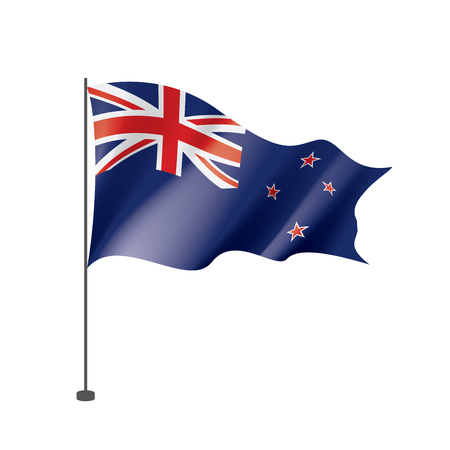 New Zealand national flag, vector illustration on a white background Imagens - 112080711