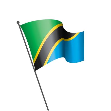 Tanzania national flag, vector illustration on a white background Illustration