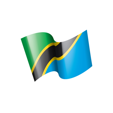 Tanzania national flag, vector illustration on a white background 일러스트