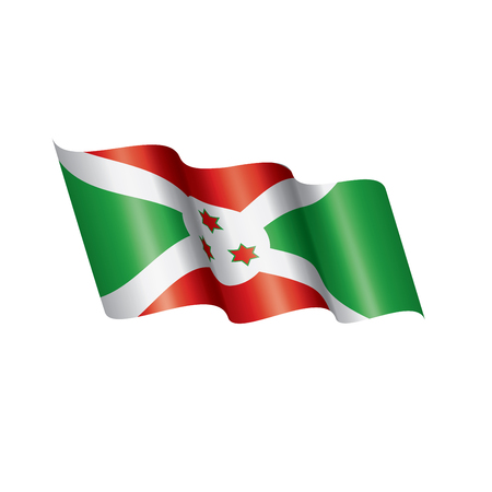 Burundi national flag, vector illustration on a white background