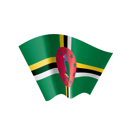 Dominica national flag, vector illustration on a white background 向量圖像