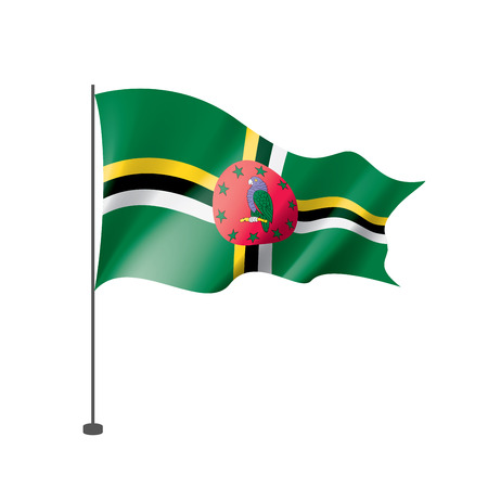Dominica national flag, vector illustration on a white background Illustration