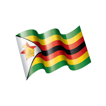 Zimbabwe national flag, vector illustration on a white background