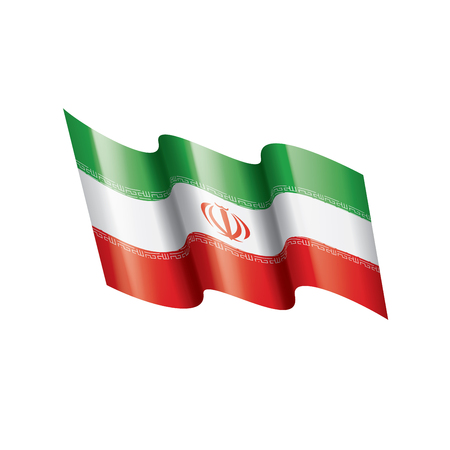 Iran flag, vector illustration on a white background