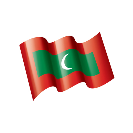 Maldives national flag, vector illustration on a white background