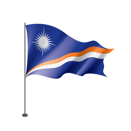 Marshall Islands national flag, vector illustration on a white background