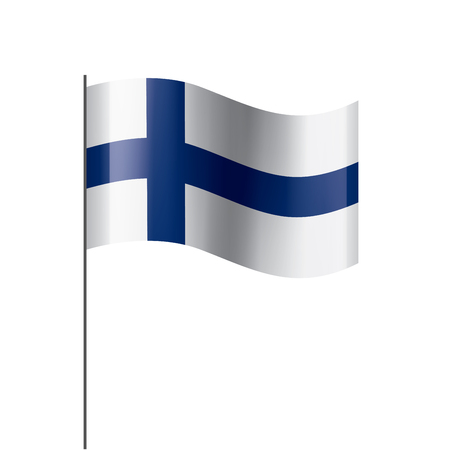 Finland national flag, vector illustration on a white background Иллюстрация