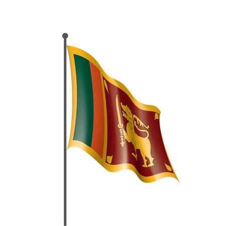 Sri Lanka national flag, vector illustration on a white background  イラスト・ベクター素材