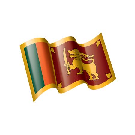 Sri Lanka national flag, vector illustration on a white background Illusztráció