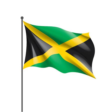 Jamaica national flag, vector illustration on a white background
