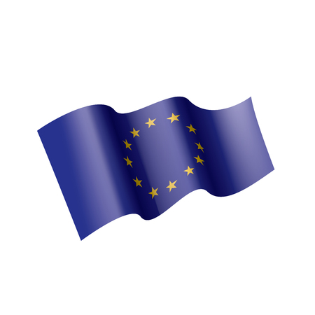 European union flag, vector illustration on a white background Иллюстрация