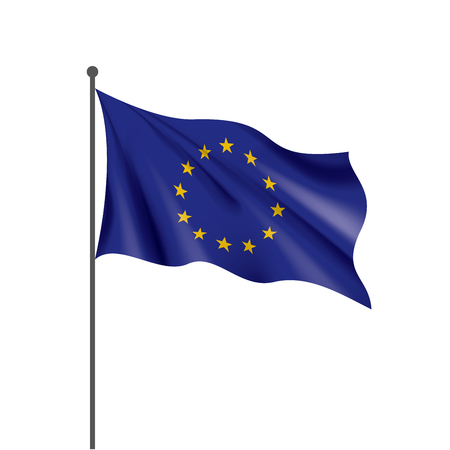 European union flag, vector illustration on a white background Illustration