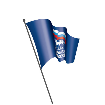 Flag with the inscription United Russia. Vector illustration on white background.