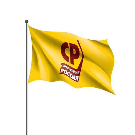 Flag of the Russian political party Fair Russia. Vector illustration on white background.