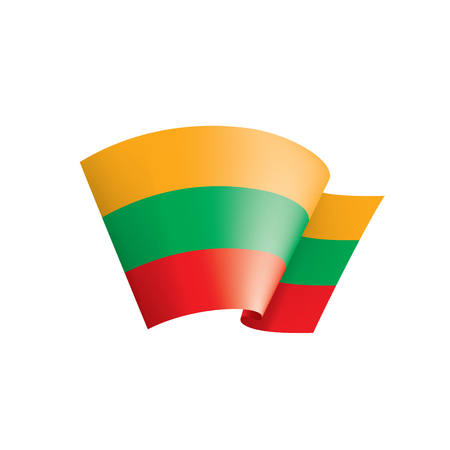 Lithuania flag, vector illustration on a white background.  イラスト・ベクター素材