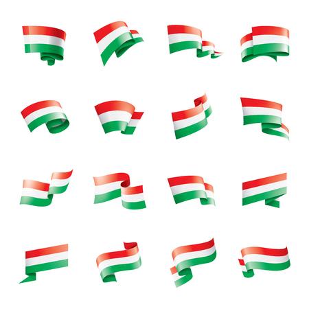 Hungary flag, vector illustration on a white background.