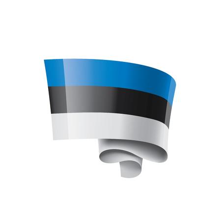 Estonia flag, vector illustration on a white background.