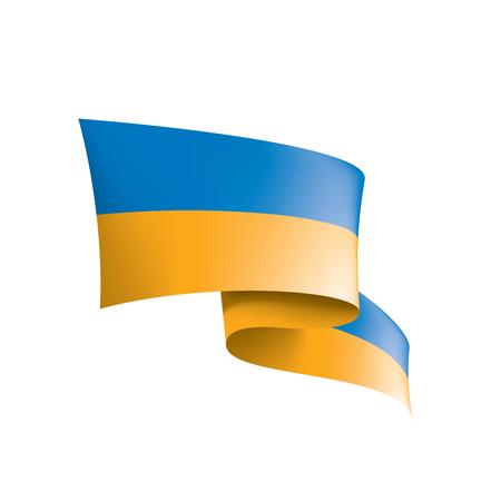 Bandera de Ucrania, ilustración vectorial sobre fondo blanco.